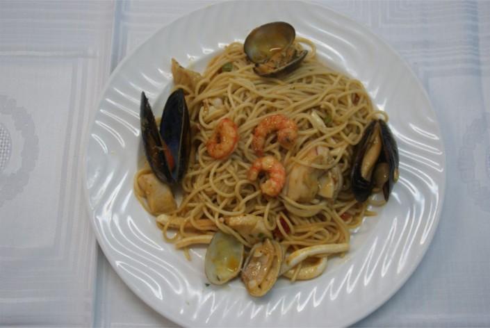 Espaguettis a la marinera