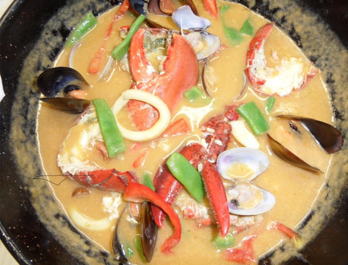 caldereta de arroz con bogavante