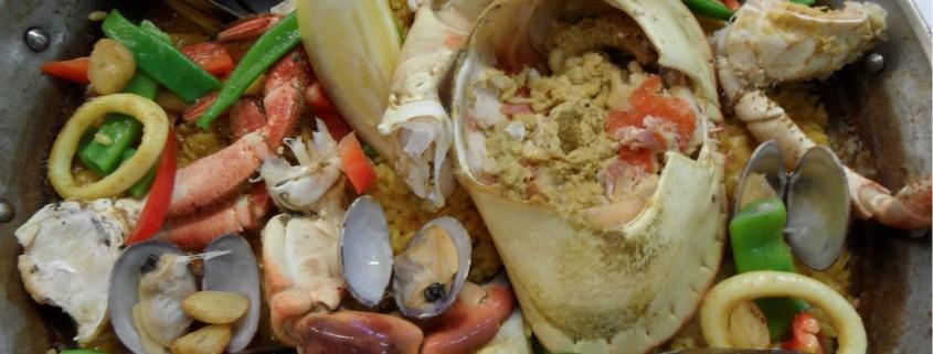 Paella de buey de mar